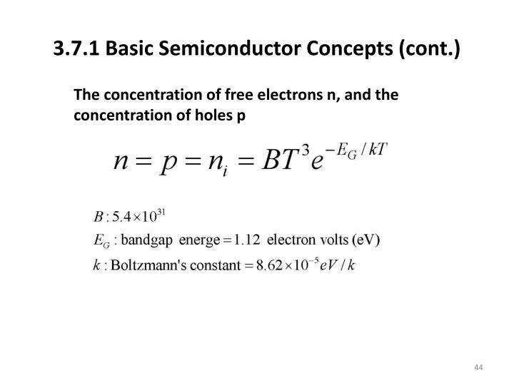 3.7.1 Basic Semiconductor Concepts (cont.)