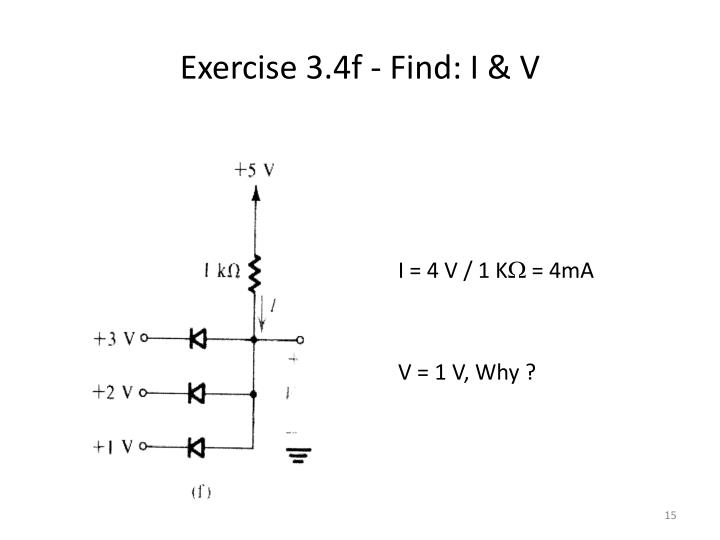 Exercise 3.4f - Find: I & V
