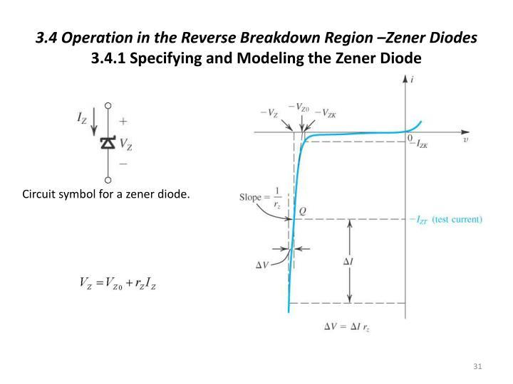 3.4 Operation in the Reverse Breakdown Region –