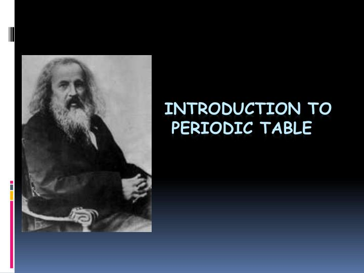 introduction to periodic table n.
