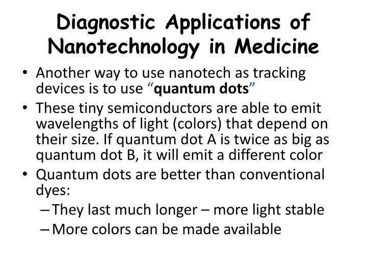 Diagnostic Applications of Nanotechnology in Medicine