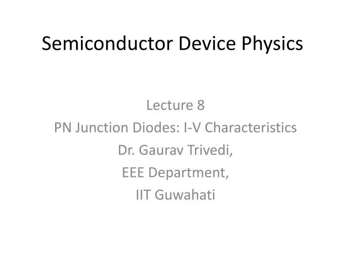 semiconductor device physics n.