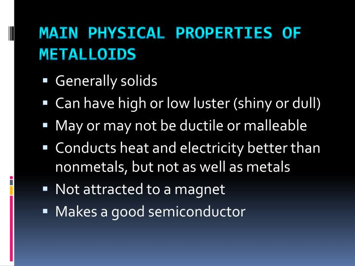 Ppt Physical Properties Of Metals Nonmetals And