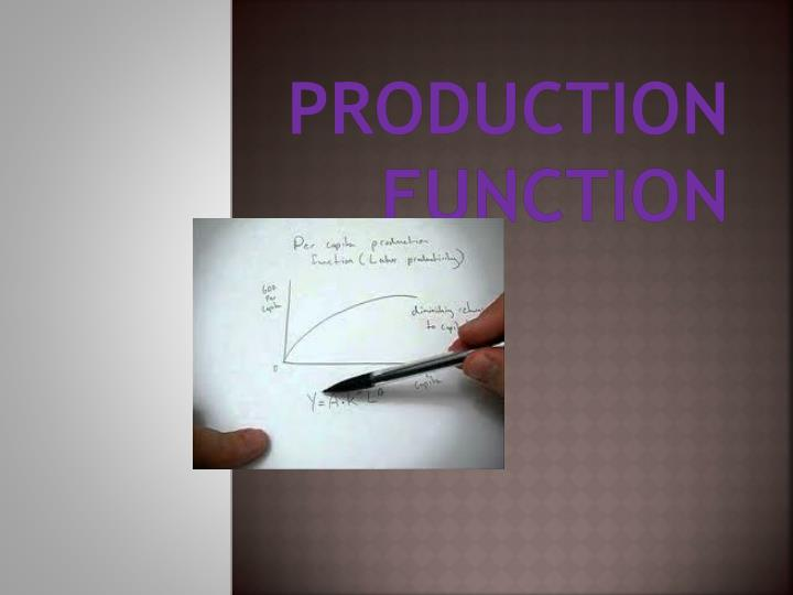 production function n.