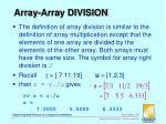 array array division