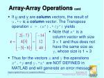 array array operations cont