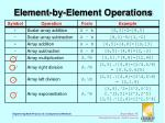 element by element operations