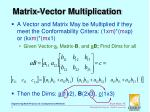 matrix vector multiplication
