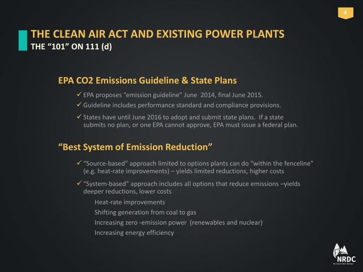 THE CLEAN AIR ACT AND EXISTING POWER PLANTS