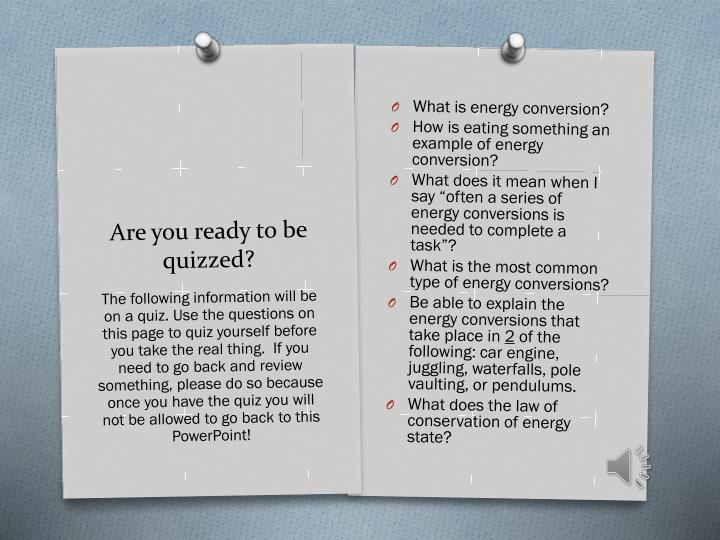 What is energy conversion?