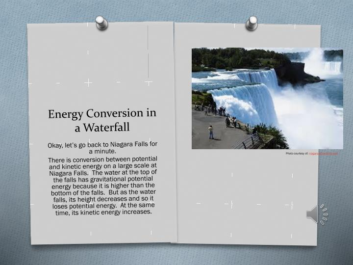 Energy Conversion in a Waterfall