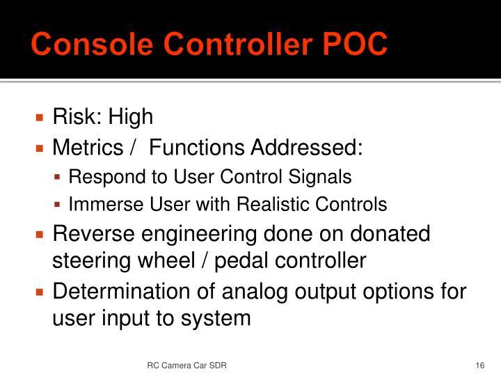 Console Controller POC