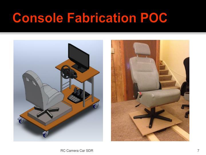 Console Fabrication POC