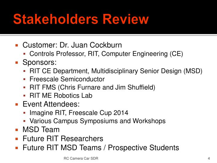Stakeholders Review