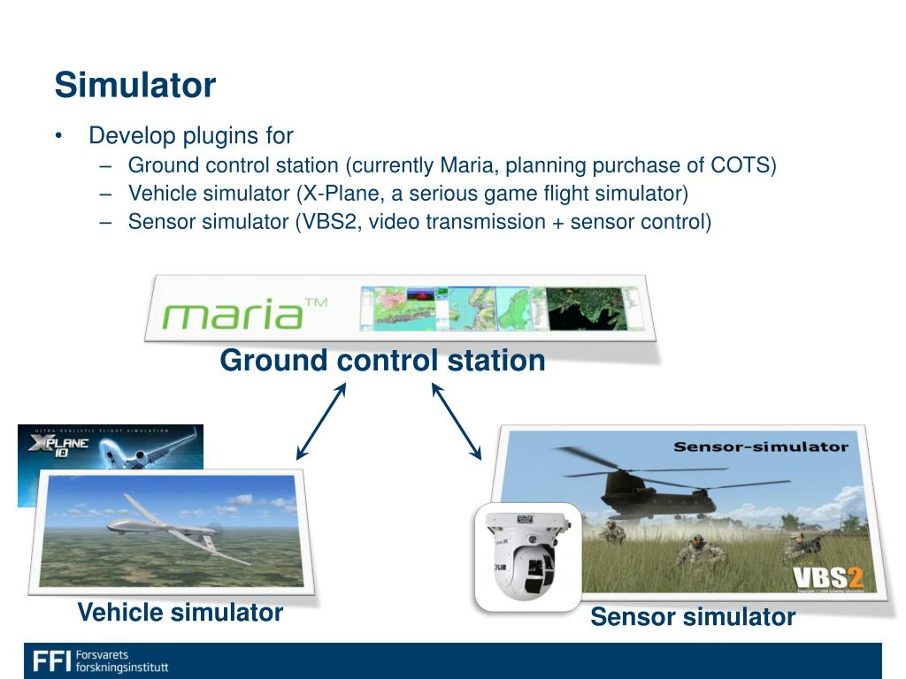 PPT - Distributed simulation of realistic unmanned systems