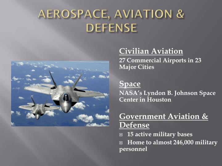 AEROSPACE, AVIATION & DEFENSE