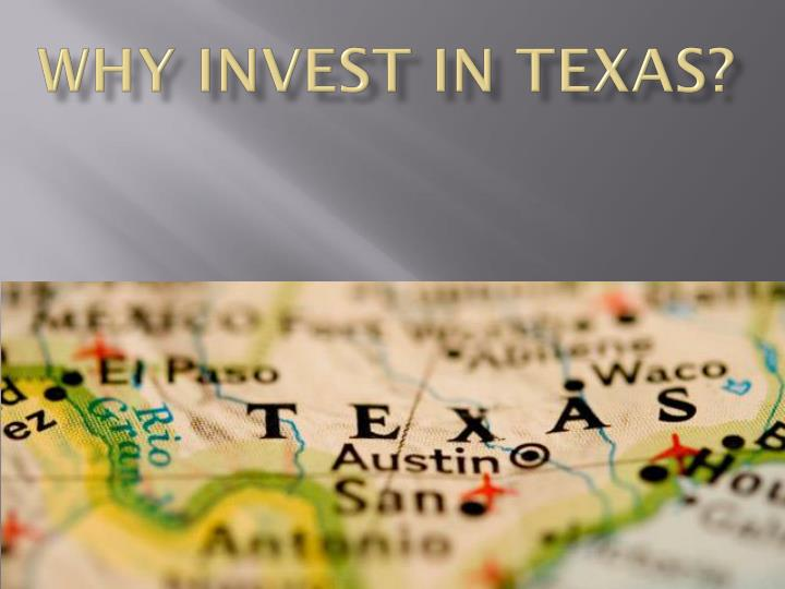 Why invest in texas