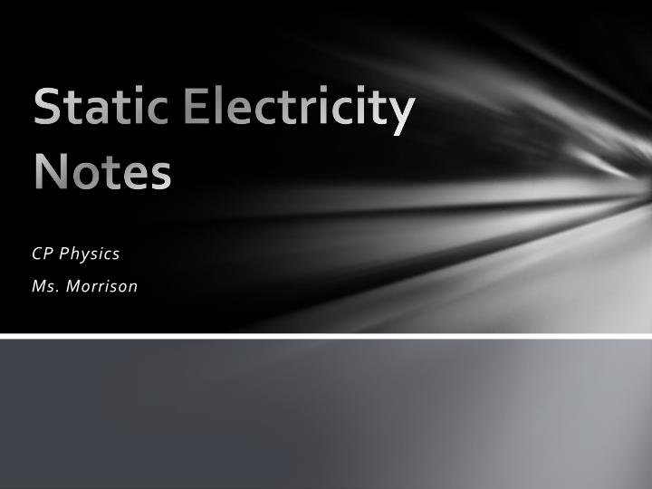 static electricity notes n.