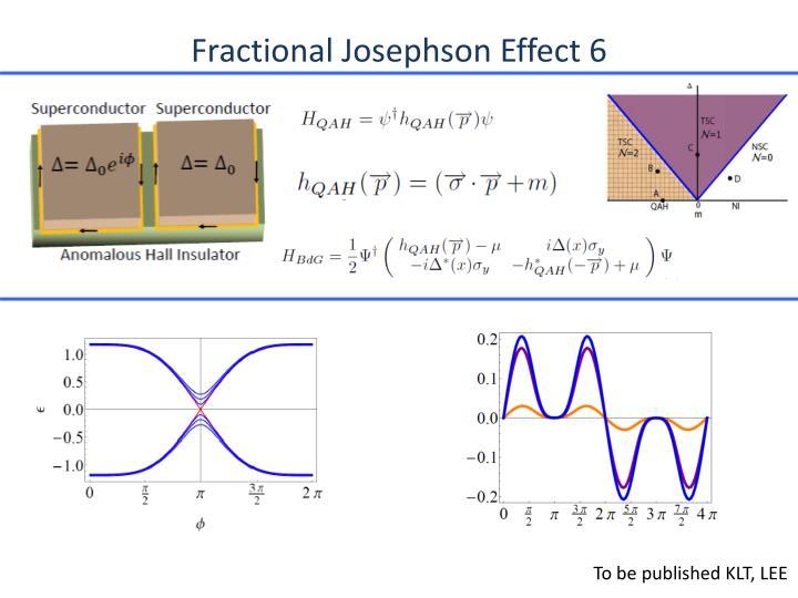 Fractional Josephson Effect