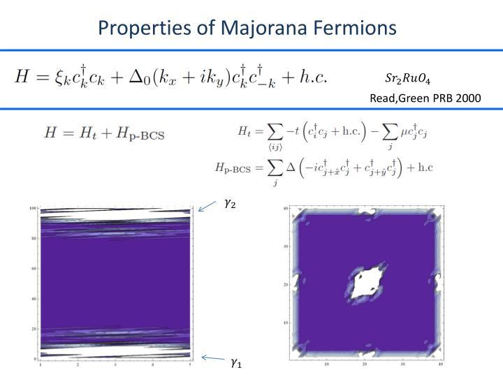 Properties of Majorana Fermions