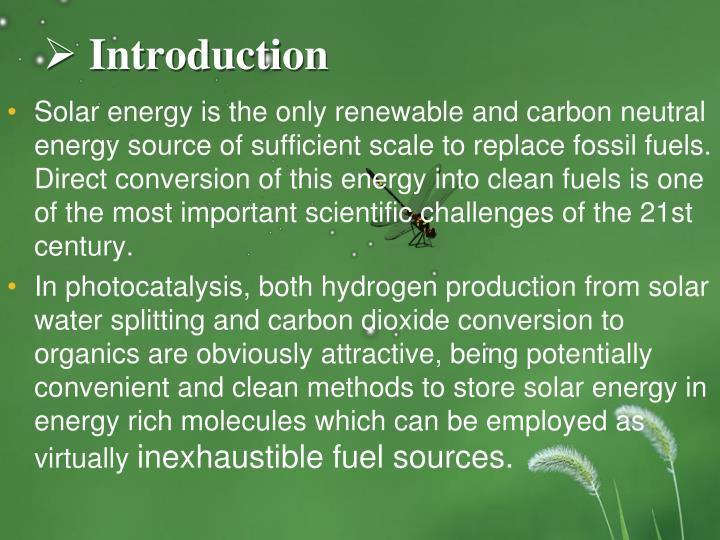 Ppt Photocatalytic Reduction Of Carbon Dioxide Over