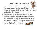 mechanical motion