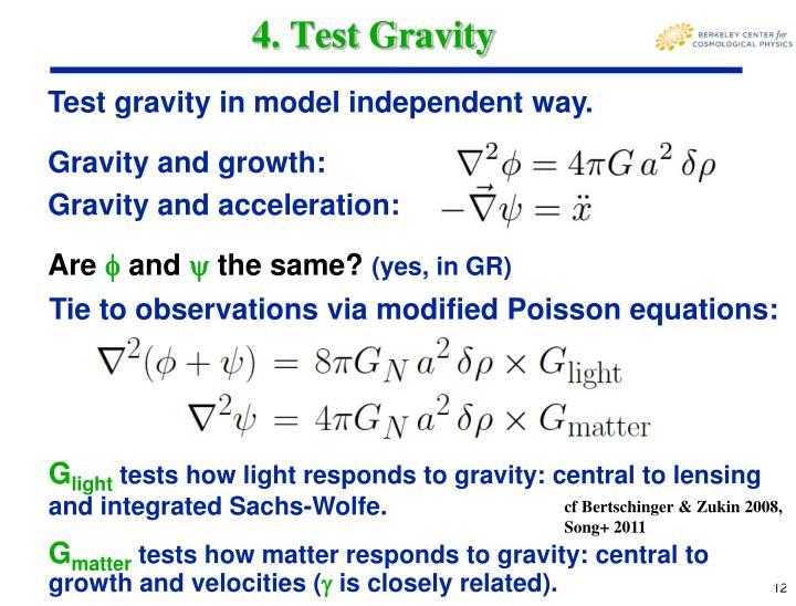 4. Test Gravity