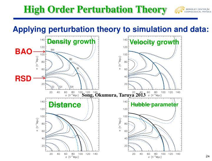High Order Perturbation Theory
