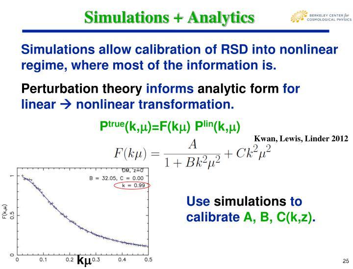 Simulations + Analytics