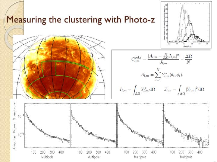 Measuring the clustering with