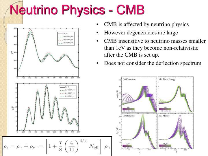 Neutrino Physics - CMB