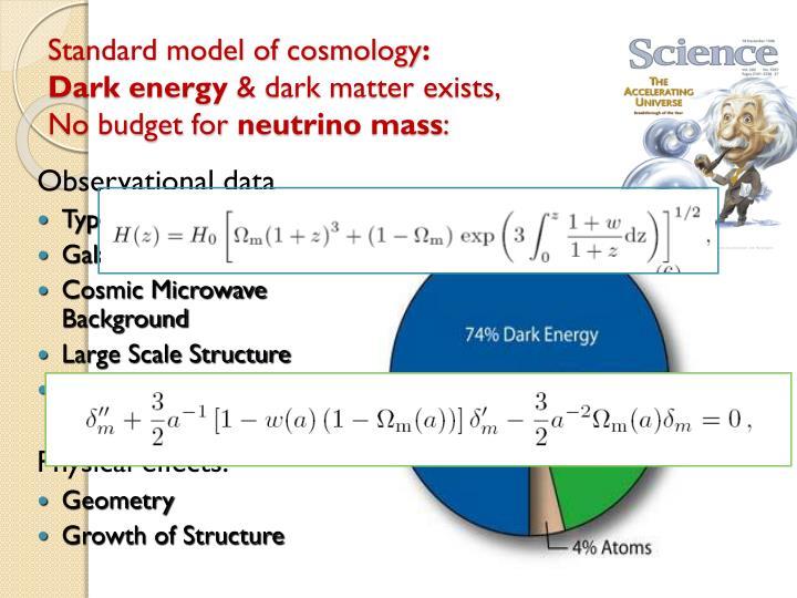 Standard model of cosmology