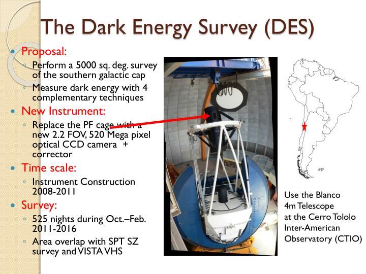 The dark energy survey des