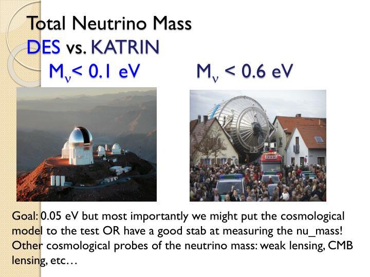 Total Neutrino Mass
