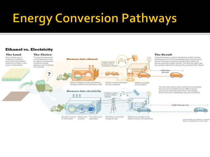 Energy Conversion Pathways