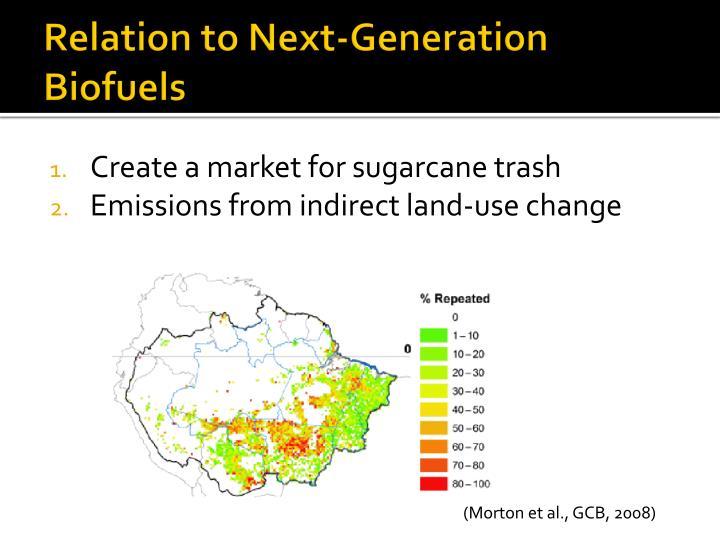 Relation to Next-Generation Biofuels
