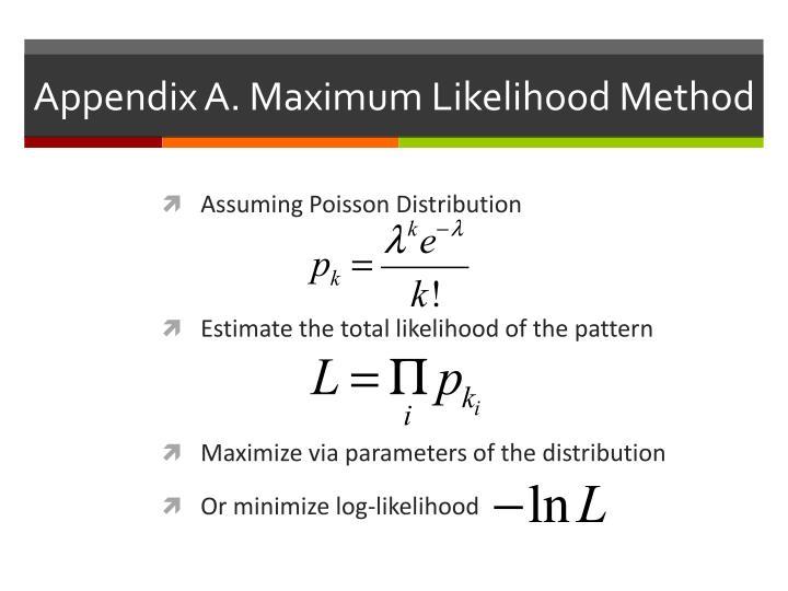 Appendix A. Maximum Likelihood Method