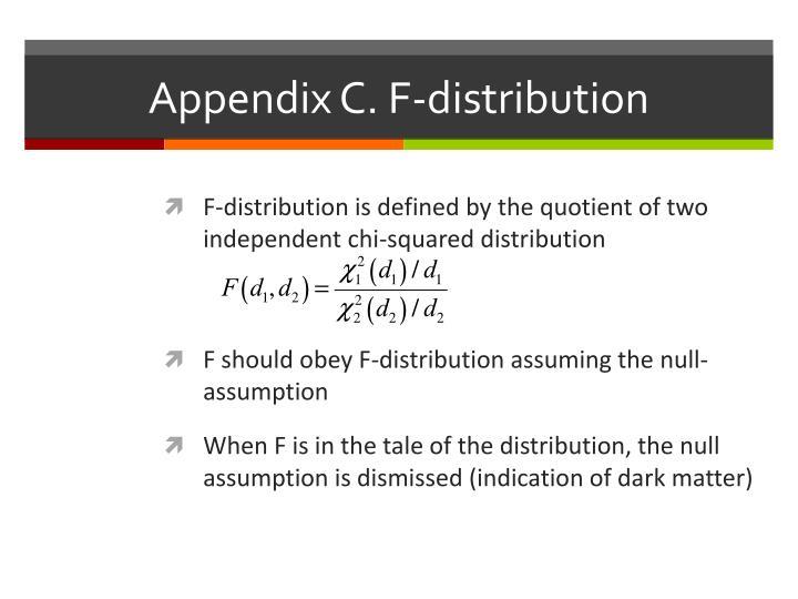 Appendix C. F-distribution