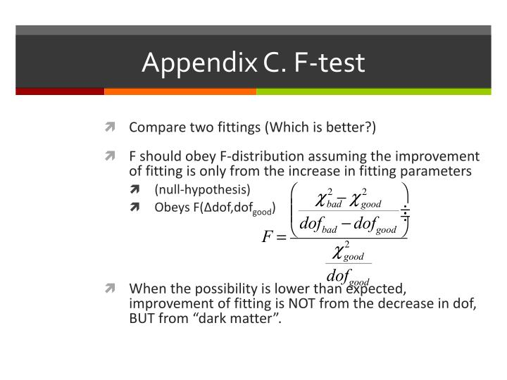 Appendix C. F-test