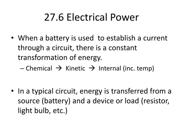 27.6 Electrical Power