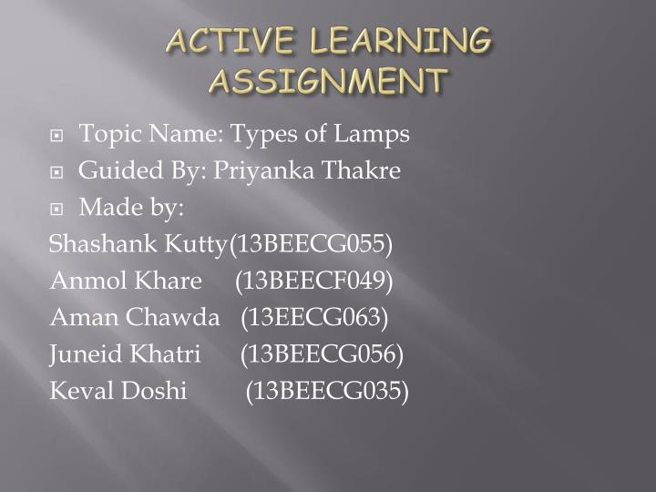 active learning assignment n.