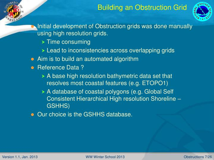 Building an Obstruction Grid