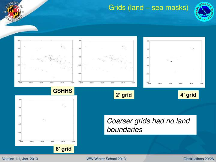 Grids (land – sea masks)