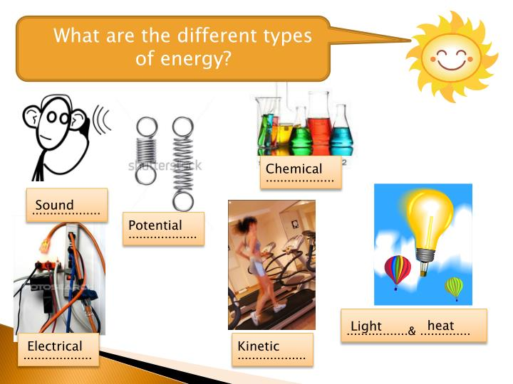 What are the different types of energy?