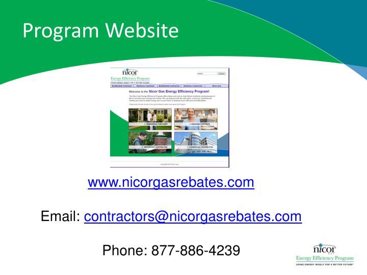 Program Website