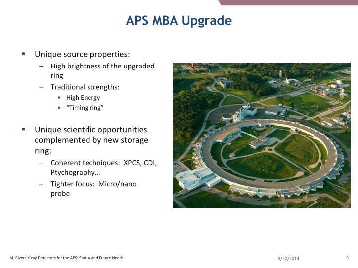 APS MBA Upgrade