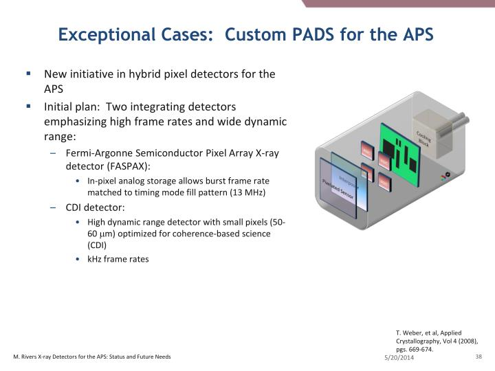 Exceptional Cases:  Custom PADS for the APS