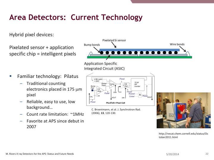 Area Detectors:  Current Technology
