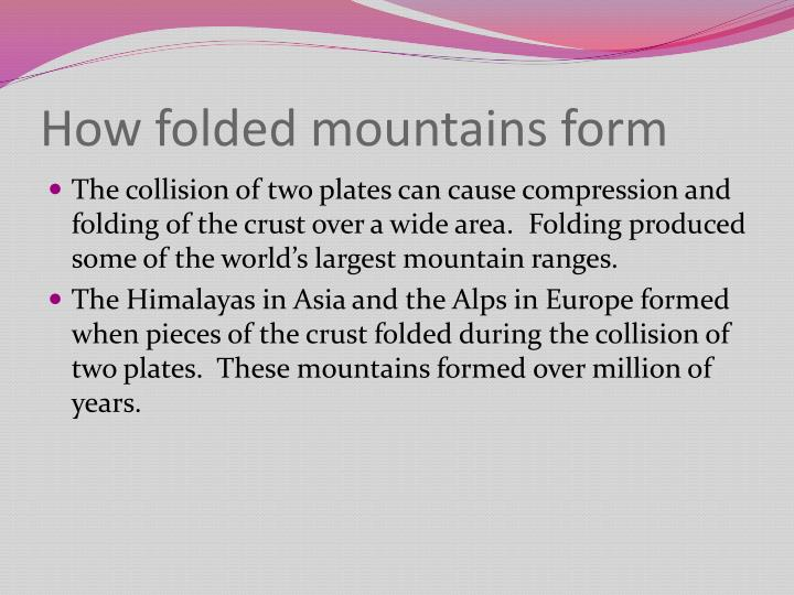 How folded mountains form