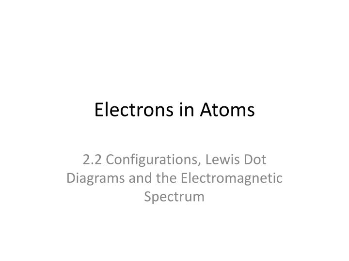 electrons in atoms n.